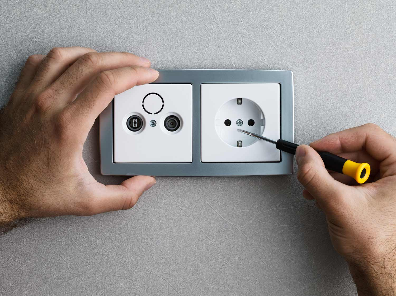 Électrique Téléphone Plaque Murale Prise avant