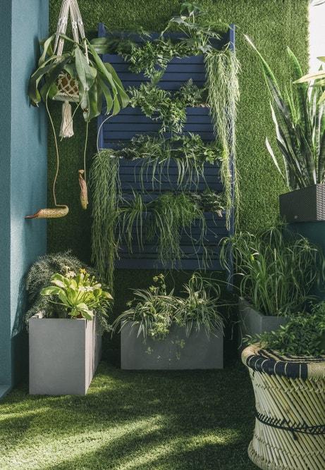 Le balcon 100% végétal, du sol au mur !