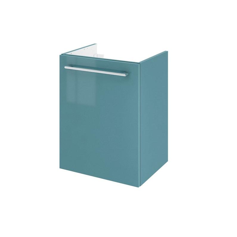 Meuble de salle de bains l.45 x H.58 x P.33 cm, vert laguna, Remix