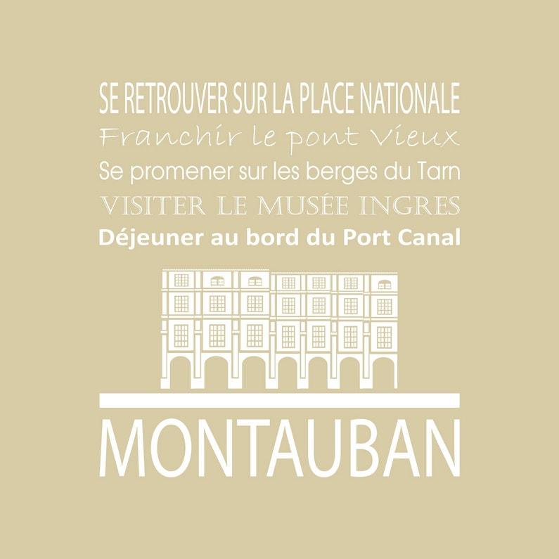 Toile Imprimée Montauban Beige Artis L30 X H30 Cm