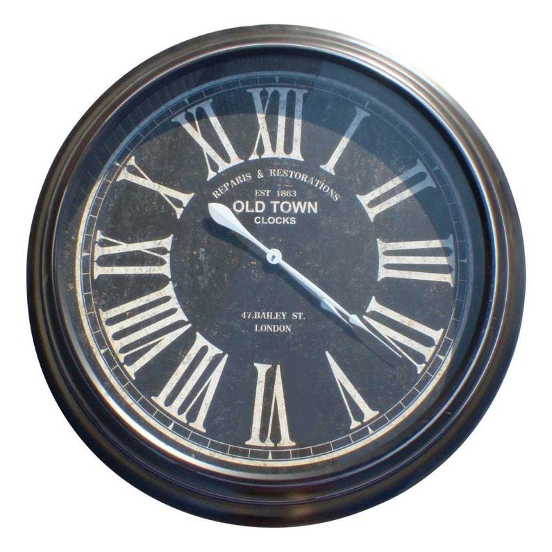 Horloge Bois Old Town Noir Diam97 Cm