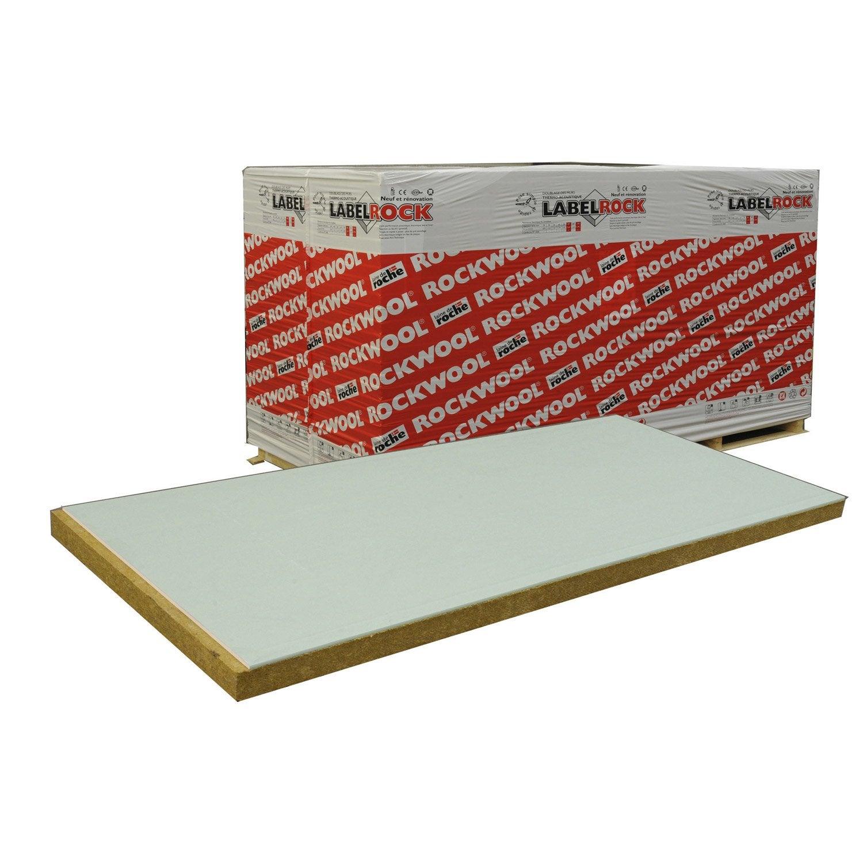 Doublage En Laine De Roche Labelrock Hydro ROCKWOOL 2.6x1.2m, Ep.53mm