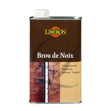 Brou de noix LIBERON, 0.5 l, brun foncé