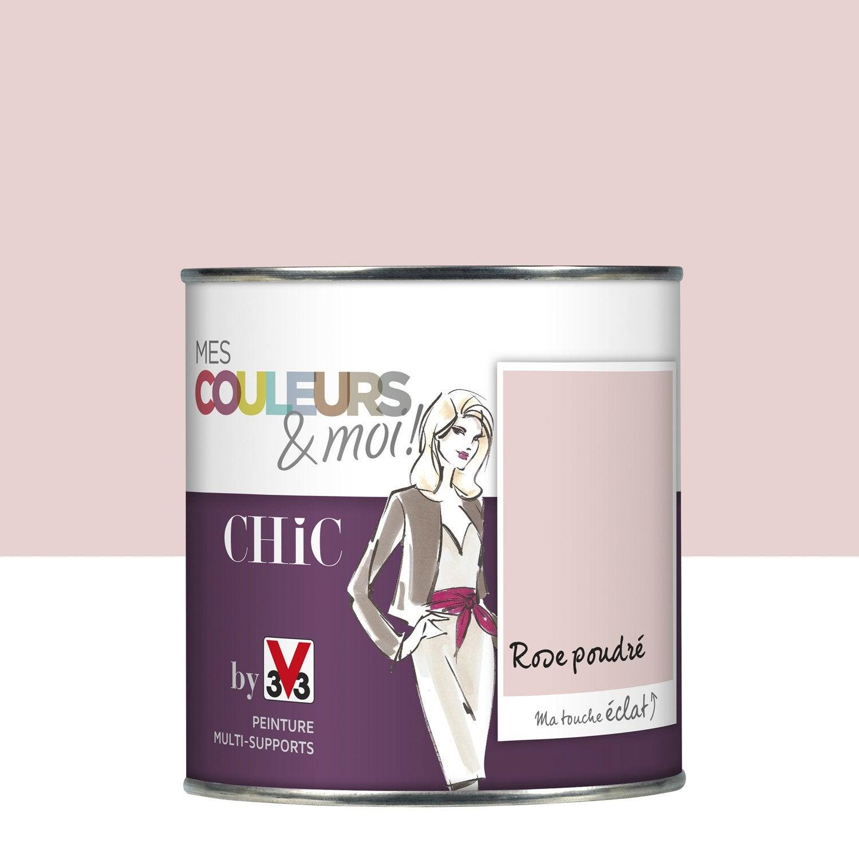 Peinture rose poudr satin v33 mes couleurs et moi chic 0 5 l leroy merlin - Salon rose poudre ...