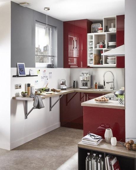Une cuisine très fonctionnelle de style contemporain dans un petit espace