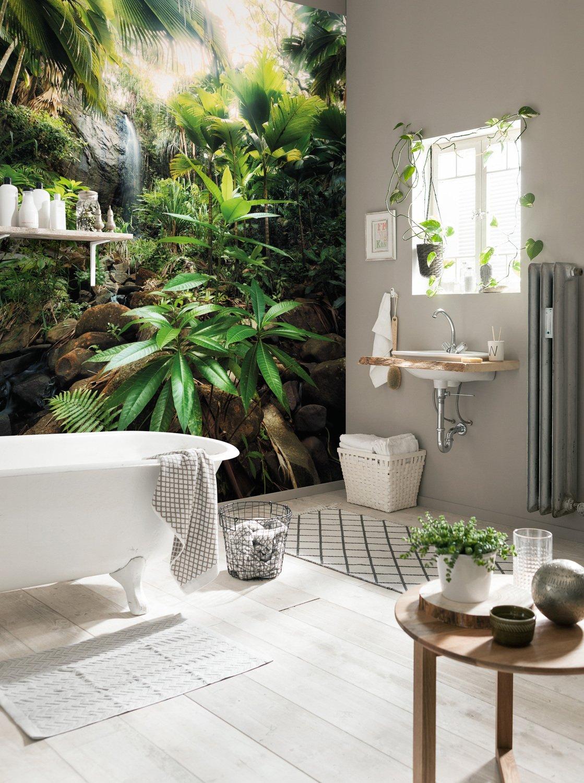 Donner Un Style Tropical A La Salle De Bains Avec Un Poster