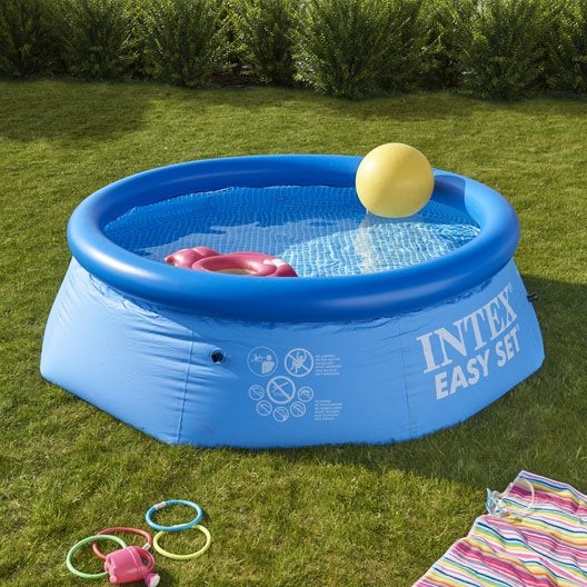 piscine hors-sol autoportante gonflable easy set intex, diam.2.44