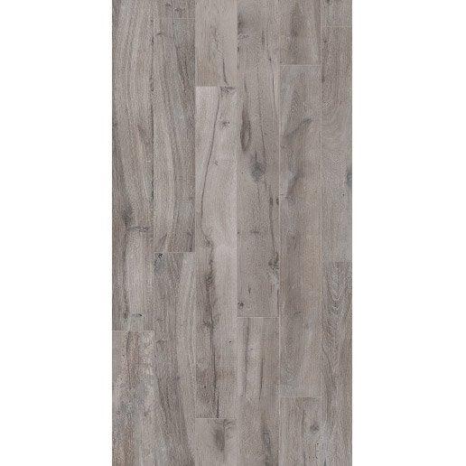 Carrelage sol et mur intenso pierre gris/argent Heritage l.20 x L.170 cm ARIANA