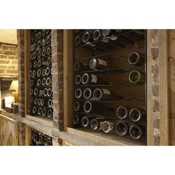 Range bouteilles et accessoires casier bouteille vin - Range buche interieur leroy merlin ...
