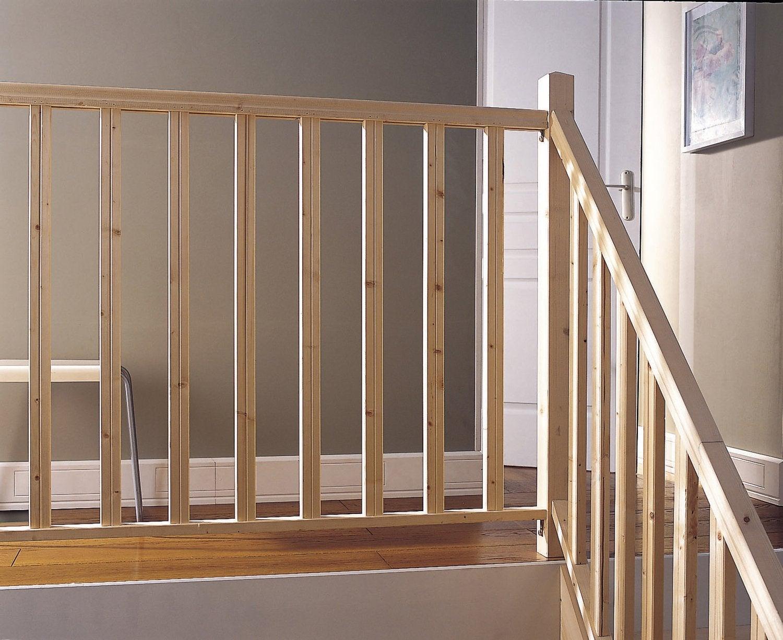 un garde corps en aluminium avec un escalier en bois leroy merlin. Black Bedroom Furniture Sets. Home Design Ideas