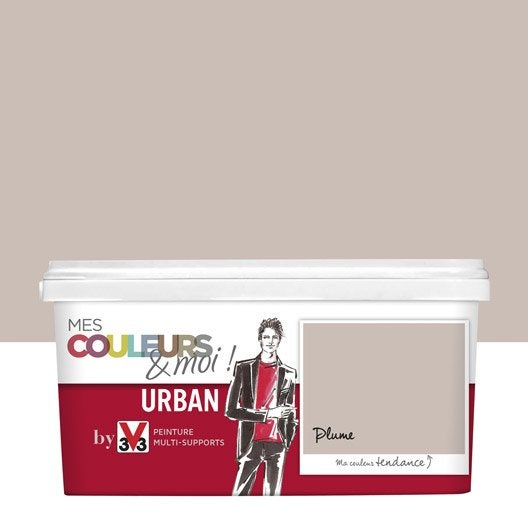 peinture beige plume v33 mes couleurs et moi urban 2.5 l | leroy
