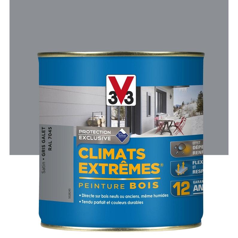 Peinture Bois Exterieur Climats Extremes V33 Gris Galet 0 5 L