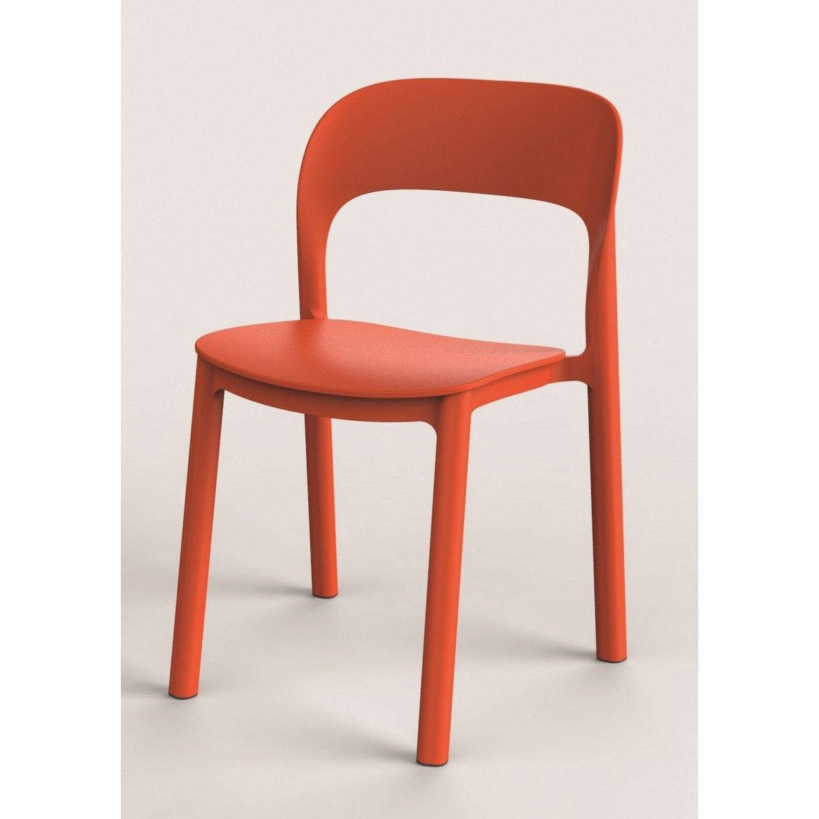 Chaise de jardin en résine injectée Ona orange | Leroy Merlin