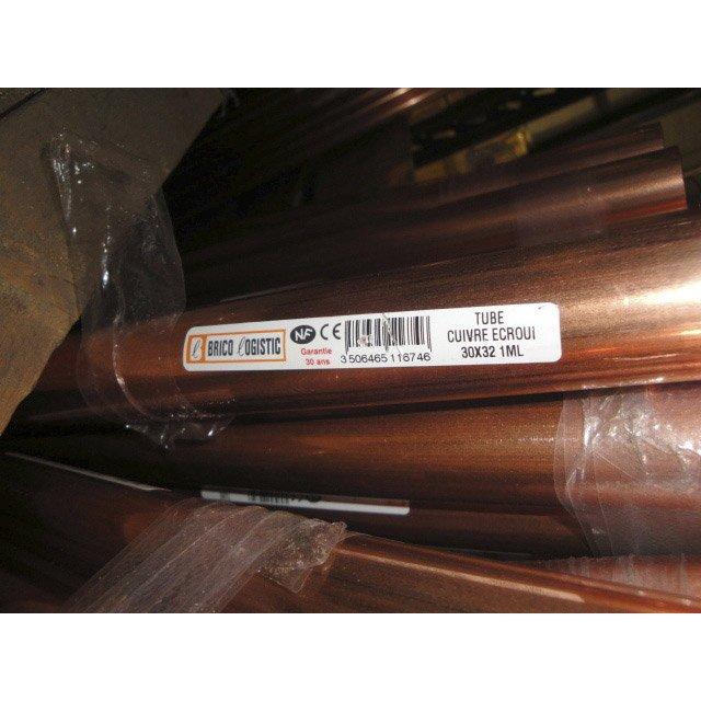 Tube Dalimentation En Cuivre écroui Diam 32 Cm En Barre De 1 M