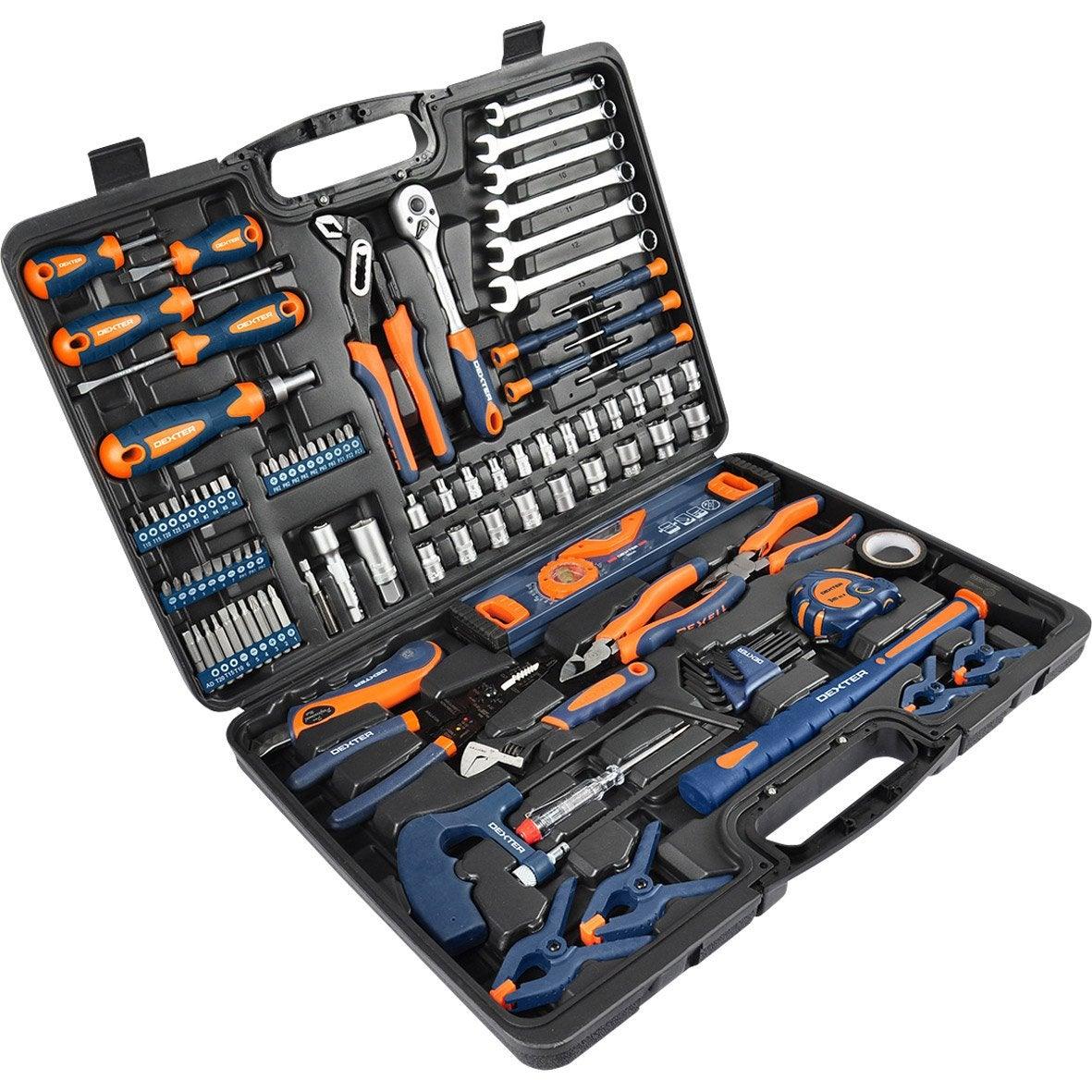 Coffret d 39 outils 108 pi ces dexter leroy merlin - Caisse a outils electricien complete ...