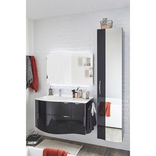 Meuble de salle de bains de 100 119 noir elegance - Point p meuble salle de bain ...