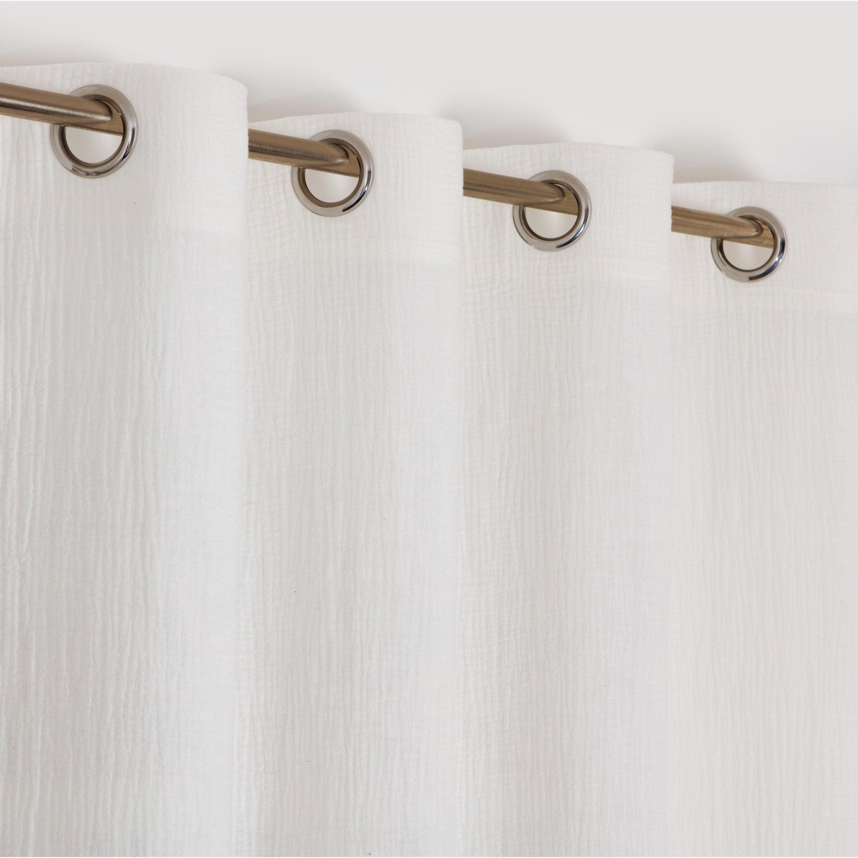 Rideau tamisant, Maja blanc l.130 x H.260 cm