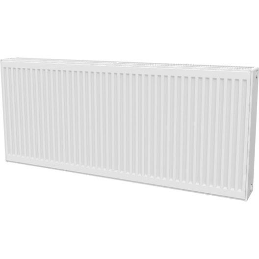 radiateur chauffage central panneau horizontal blanc l 140 cm 3436 w leroy merlin