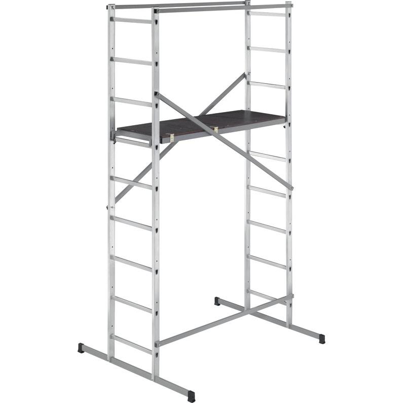 Echafaudage Aluminium Hobbystep H4 Hailo Hauteur De Travail 4 M