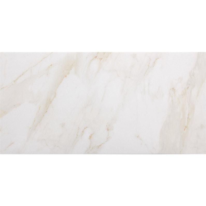 Carrelage Sol Et Mur Intenso Effet Marbre Blanc Remix L 30 X L 60 Cm Artens Leroy Merlin