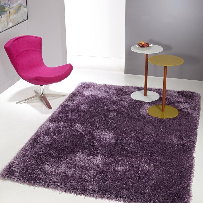 un tapis violet shaggy pour habiller vos sols leroy merlin. Black Bedroom Furniture Sets. Home Design Ideas