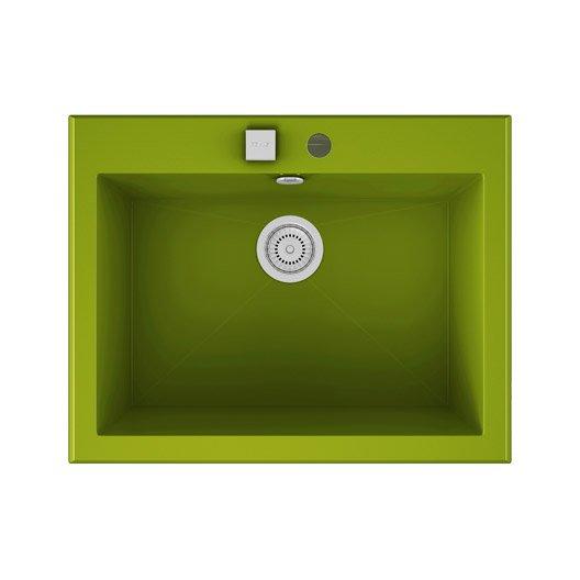 Evier a encastrer quartz et resine vert shira 1 cuve for Voir ma maison en 3d 12 evier 224 encastrer quartz et resine blanc shira 1 cuve