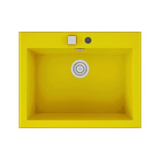 Evier a encastrer quartz et resine jaune shira 1 cuve for Voir ma maison en 3d 12 evier 224 encastrer quartz et resine blanc shira 1 cuve