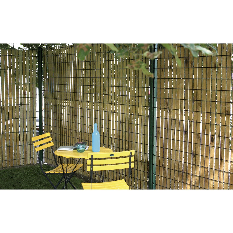 brise vue brise vent bois forest style okulto cm x l 4 5 cm leroy merlin. Black Bedroom Furniture Sets. Home Design Ideas