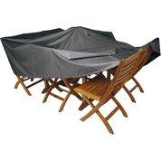 Chaise de jardin en aluminium niagara gris leroy merlin for Housse protection mobilier exterieur