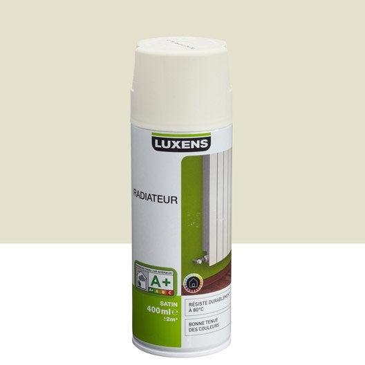 Peinture a rosol satin luxens blanc ivoire n 3 0 4 l for Peinture blanc satin