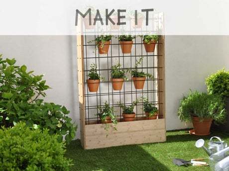 Diy fabriquer un mur v g tal d 39 ext rieur leroy merlin for Mur vegetal exterieur synthetique