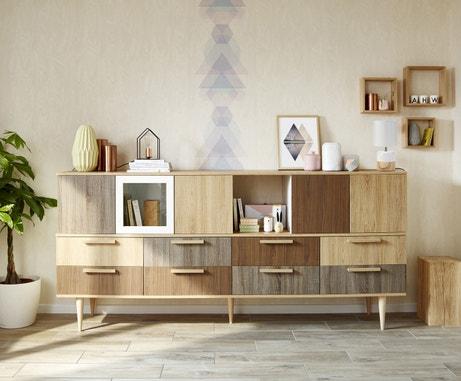 Un meuble de rangement en bois pour un style naturel
