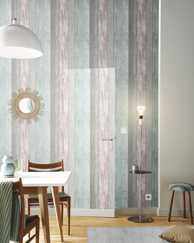 effet brique dans ce salon au style industriel leroy merlin. Black Bedroom Furniture Sets. Home Design Ideas