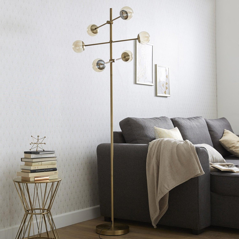 Lampadaire Led Pronto, 170 cm, doré, 2 W