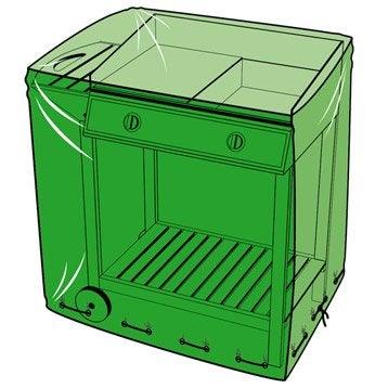 Housse de protection pour barbecue L.95 x l.60 x H.95 cm