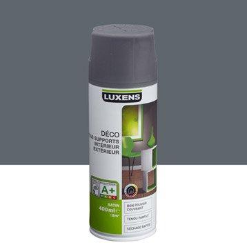 Peinture aérosol satin LUXENS, gris galet n°1, 0.4 l