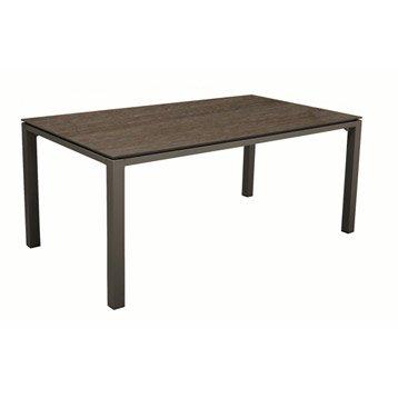 Table de jardin Stonéo rectangulaire café /cedar 8 personnes