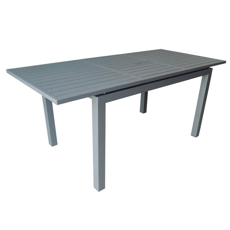 Table de jardin de repas Trieste rectangulaire gris 4/6 personnes