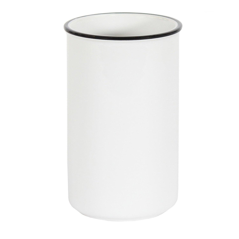 Gobelet céramique Marcel, noir et blanc