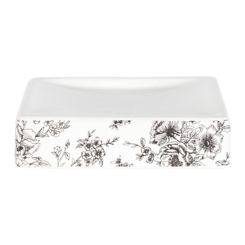 Porte-savon céramique Gabriel, blanc, gris zingué 1