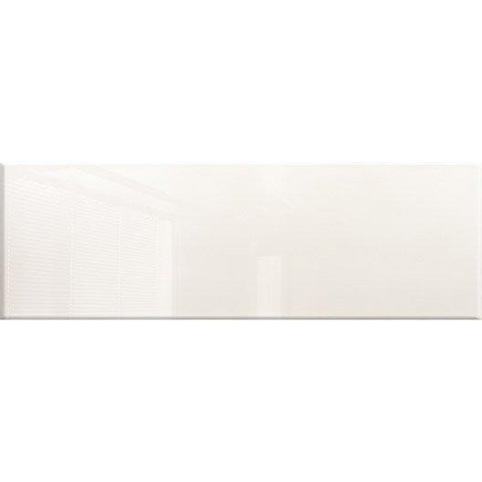Fa ence mur blanc haussmann x cm leroy merlin for Carrelage 76