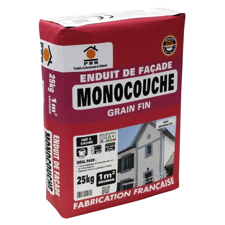 enduit monocouche gris anthracite prb 25 kg leroy merlin. Black Bedroom Furniture Sets. Home Design Ideas