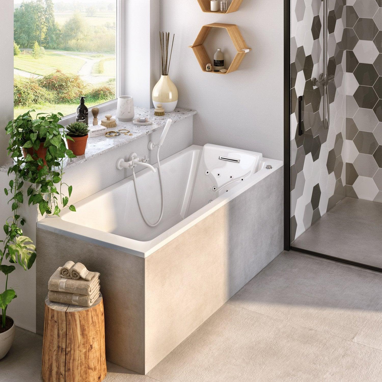 baignoire baln o rectangulaire cm jacob. Black Bedroom Furniture Sets. Home Design Ideas