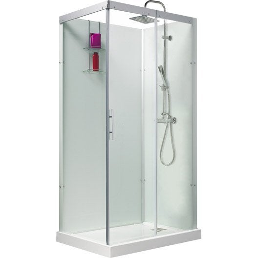 cabine de douche rectangulaire 110x80 cm thalaglass 2 thermo leroy merlin. Black Bedroom Furniture Sets. Home Design Ideas