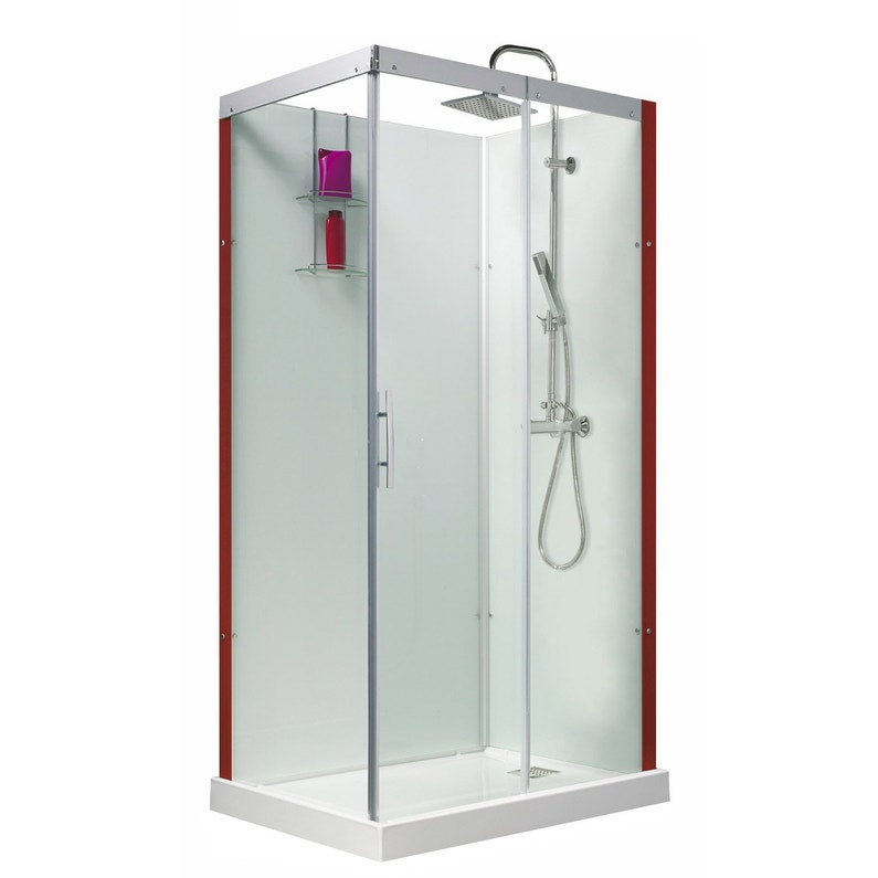 Cabine De Douche Rectangulaire 110x80 Cm Thalaglass 2 Thermo