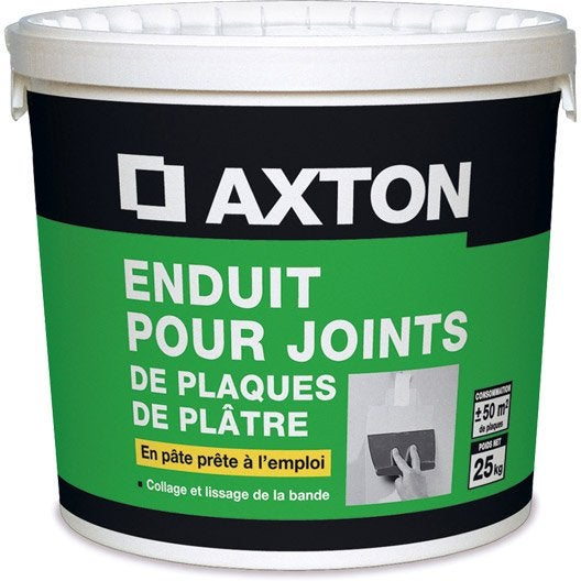 enduit pour joint en pâte axton, 25 kg | leroy merlin