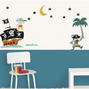 Sticker Pirates 49 cm x 69 cm