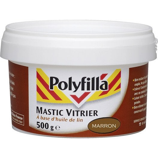 mastic d 39 tanch it polyfilla vitrier 500 g marron leroy merlin. Black Bedroom Furniture Sets. Home Design Ideas