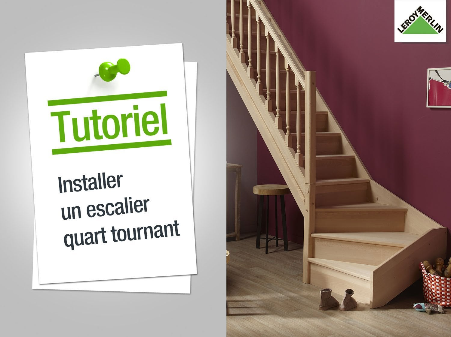 comment installer un escalier quart tournant leroy merlin - Rampe Escalier Brico Depot1998