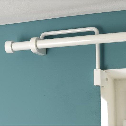 support sans per age tringle rideau ib 25 mm blanc ib leroy merlin. Black Bedroom Furniture Sets. Home Design Ideas